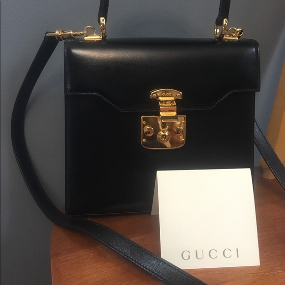 fbacffa564b09 Make me an offer!! GUCCI Vintage Padlock Leather